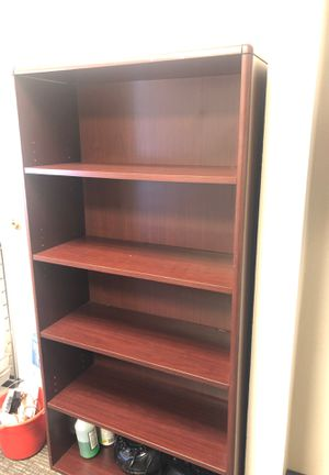 Nice heavy cherry wood finish office book case. Not cheap stuff first 20 takes it for Sale in Las Vegas, NV