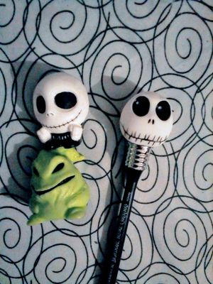 Nightmare Before Christmas Light Up Pin/2 squishies for Sale in Fresno, CA