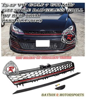 GTI STYLE FRONT GRILLE (RED) FOR 2015-2017 VW GOLF 7 (MK7) GRILL-GOLF7A-A-RD for Sale in Fresno, CA