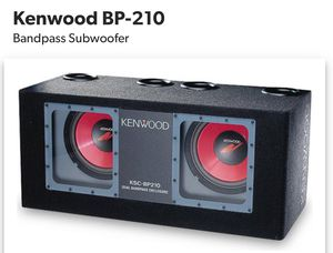 Kenwood KSC-BP210 Dual Bandpass Enclosure Subwoofer Speaker for Sale in Alhambra, CA