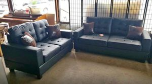 New Black 2pc. Sofa and loveseat for Sale in Austin, TX