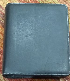 Franklin Covey Black Leather Personal Planner for Sale in Phoenix, AZ