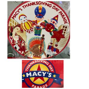 """10"""" round FITZ & FLOYD MACY's Thanksgiving Day Parade MINT unused in box.GORGEOUS, orig $40. for Sale in Laguna Woods, CA"""