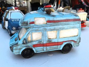 Vintage Blue Camper Van Bird House for Sale in Maywood, CA