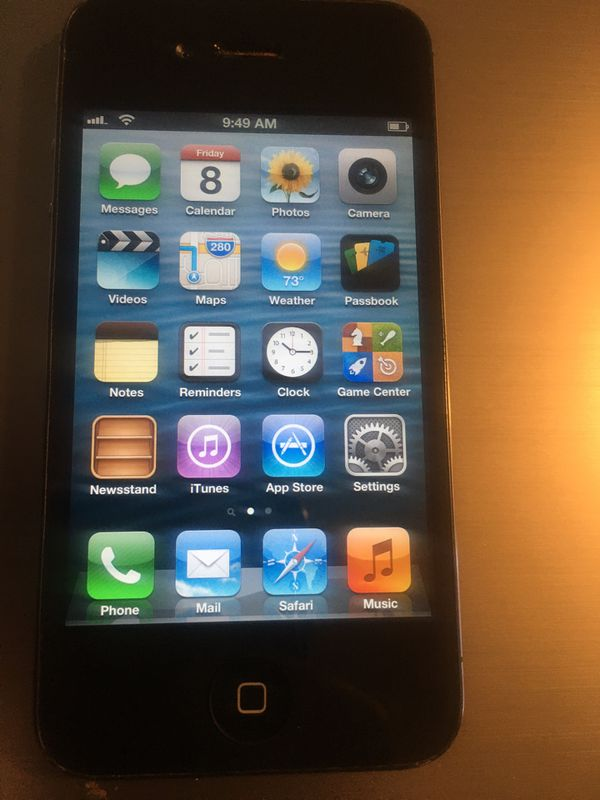 4th Generation Black Iphone4