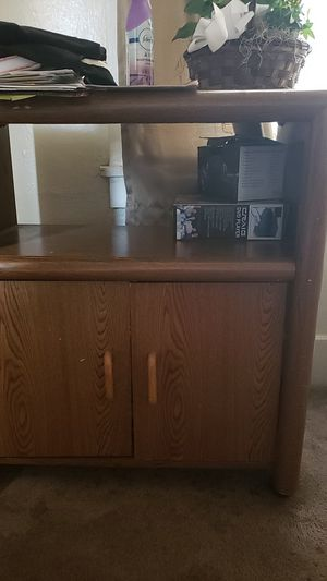 Brown storage table for Sale in Stockton, CA
