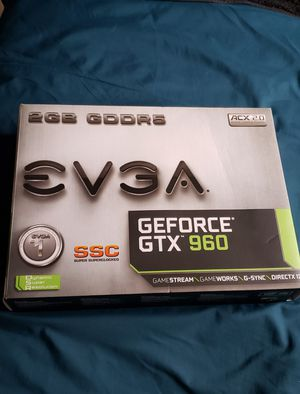 EVGA GTX 960 2GB Graphics Card for Sale in Silver Spring, MD