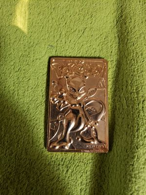 1999 RARE 23K GOLD POKEMON MEWTWO for Sale in Wichita, KS