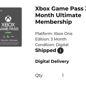 3 Month Game Pass Ultimate for Sale in Yorba Linda, CA
