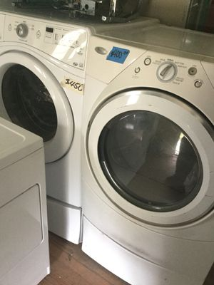Whirlpool frontload set on pedestals/ 90 day warranty / delivery and install are available for Sale in Durham, NC