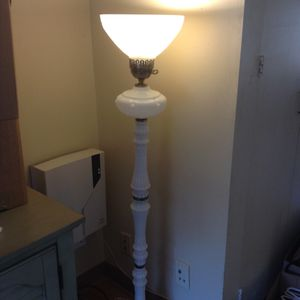 Milk glass floor lamp for Sale in Lexington, MA