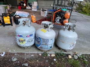 3 propane tanks, all with some propane for Sale in Woodway, WA
