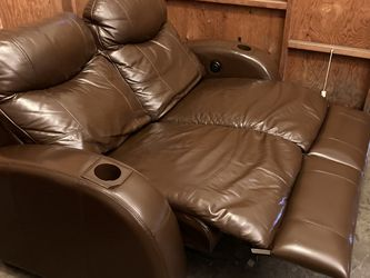 Electric Real Leather Recliner Loveseat - Free Delivery for Sale in Rowland Heights,  CA
