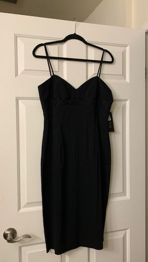 Anne Klein Black Beaded Dress SIZE 14 for Sale in Huntington Beach, CA