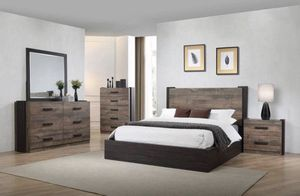 brand new modern queen rustic bedroom set for Sale in Forney, TX