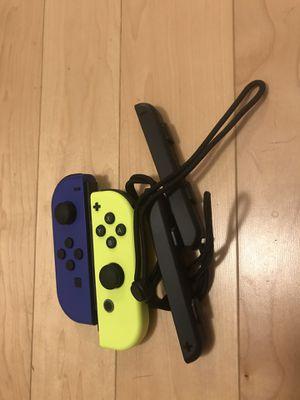 Nintendo switch joycons (L) (R) Yellow/neon blue for Sale in Brockton, MA