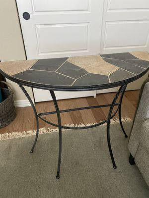 Console table-iron and tile for Sale in Denver, CO