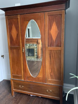 Beautiful Wood Inlayed Antique Armoire for Sale in Denver, CO