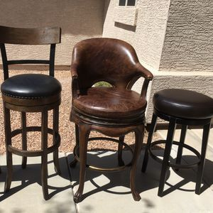 Billiards chairs/ stools $40 For 1!!! for Sale in Peoria, AZ