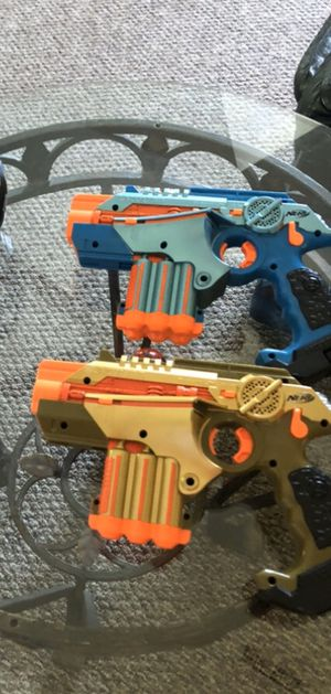 Nerf laser tag guns... both have new batteries in them. Orig price is $179.99 (see photo) asking $30 for Sale in Chelmsford, MA