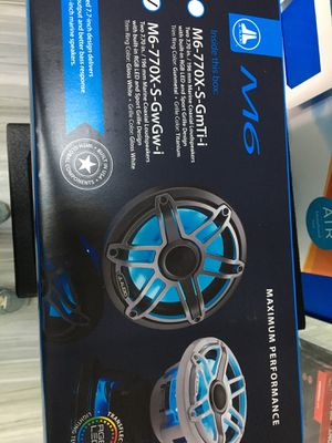 """JL Audio M6-770x-S-GwGw-i M6 Series 7.7"""" marine speakers with LED lights (Gloss White Sport Grille) for Sale in Oakland Park, FL"""