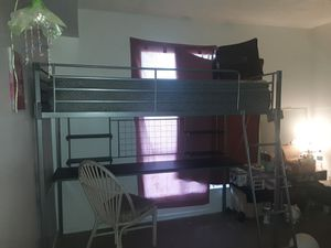 Bunk bed with a desk underneath price is negotiable for Sale in Phoenix, AZ