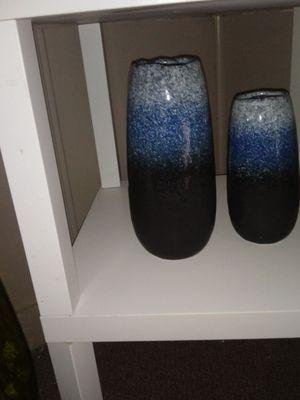 Set of 3tone blue vases high quality for Sale in Stockbridge, GA