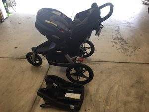 Baby Stroller with Car seat. Quick one click connect system for Sale in Clovis, CA