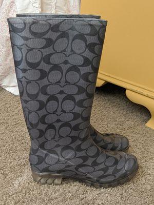 Coach rain boots size 5 for Sale in Las Vegas, NV