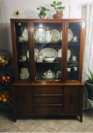 Mid century modern china cabinet. Narrow for Sale in Fredericksburg, VA