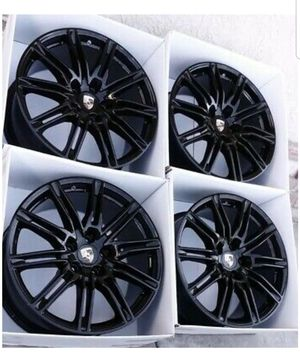 "21"" Porsche Cayenne BLACK 2014 2015 2016 2017 2018 Factory OEM Wheels Rims for Sale in Long Beach, CA"