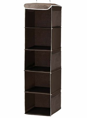 (2) Simple Houseware 5 Shelves Hanging Closet Organizer, Bronze for Sale in IND HILLSIDE, NJ
