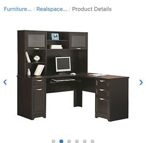 Realspace Magellan L shaped corner desk and hutch (chair included) for Sale in San Diego, CA