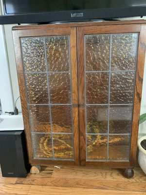 Cabinet with glass doors and shelves for Sale in San Diego, CA