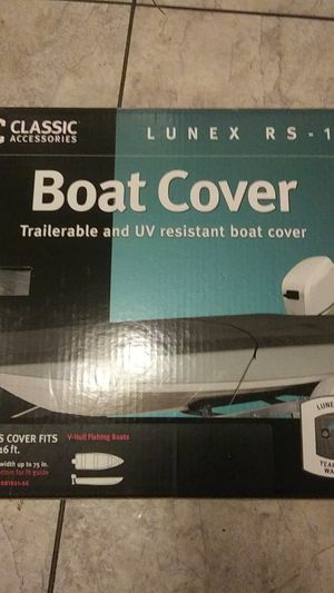 Boat cover 14/16 ft vhull for Sale in Mount MADONNA, CA