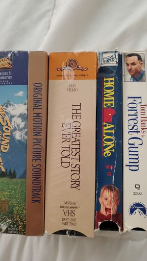 Worlds Greatest movies ever made, The sounds of Music and the greatest Story Ever Told have not been open. Plus u get a DVD n VHS Player. for Sale in Waterford Township, MI
