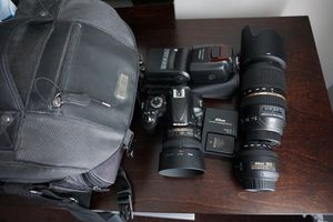 Nikon d3100 with 2 lens and accessories for Sale in Trenton, NJ