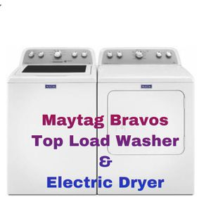 Maytag Bravos Top Load Washer and Electric Dryer for Sale in Hampton, VA