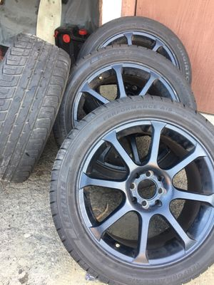 Clean black rims NEED GONE ASAP for Sale in Montclair, CA