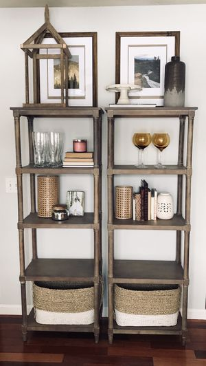 Wooden display shelves (decor not included) for Sale in Deer Creek, IL