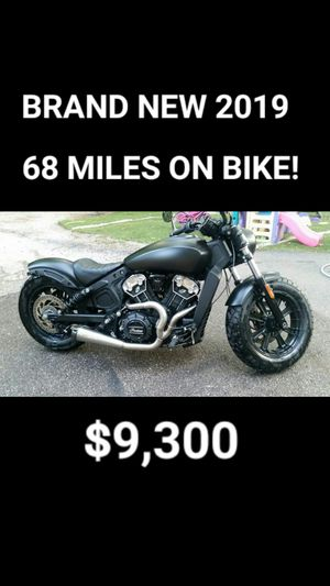 2019 INDIAN SCOUT BOBBER ABS (BRAND NEW FROM DEALERSHIP) for Sale in Cedar Hill, TX