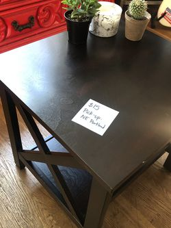 Dark Wood End Table for Sale in Portland,  OR