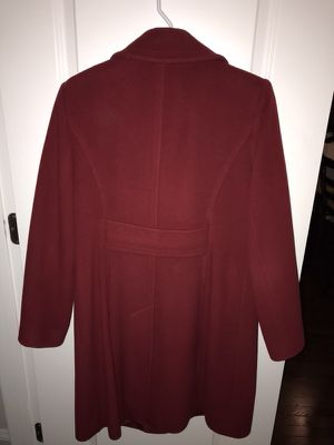 Red wool Anne Klein winter coat cherry red color for Sale in Herndon, VA