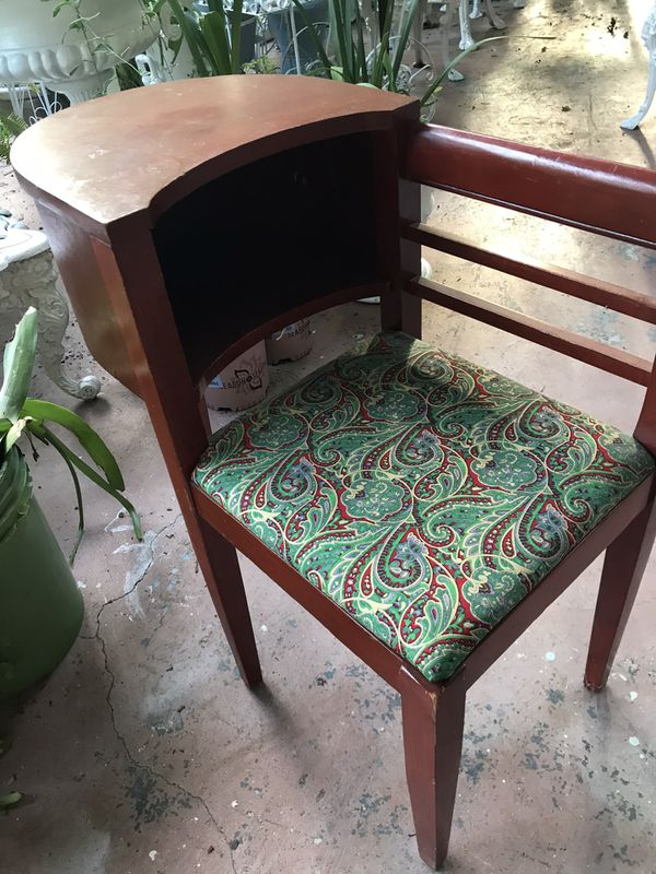 Beautiful antique telephone holder table