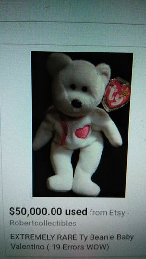 Extremely rare Valentino 19 error ty beanie Baby for Sale in Jackson, NJ