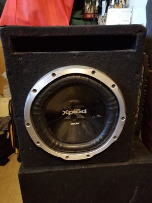 10 inch Sony Xplod and Kenwood Amplifier Car Sound Stereo System Bass for Sale in Lynwood, CA