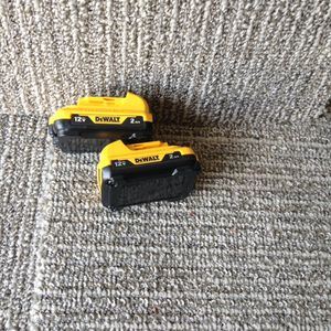 Two Dewalt 12 V 2.0 fuel gauge batteries for Sale in Columbus, OH