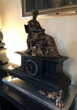 Antique French Bronze Clock for Sale in Los Angeles, CA