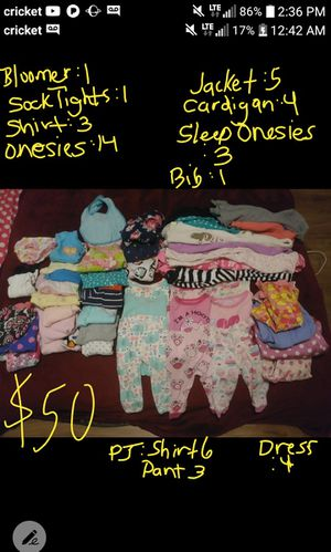 Baby girl clothes lot for Sale in Tampa, FL