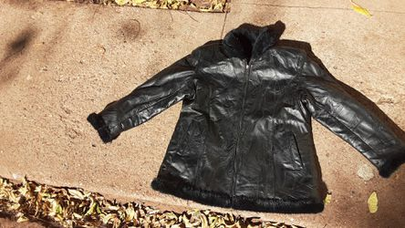 Leather womans coat for Sale in Abilene,  TX